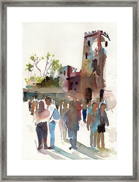 The Visitors Framed Print