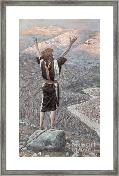 The Voice In The Desert Framed Print