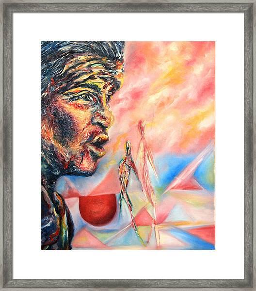 The W Framed Print by Joseph Lawrence Vasile