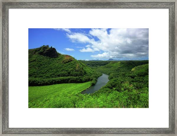 The Wailua River Framed Print