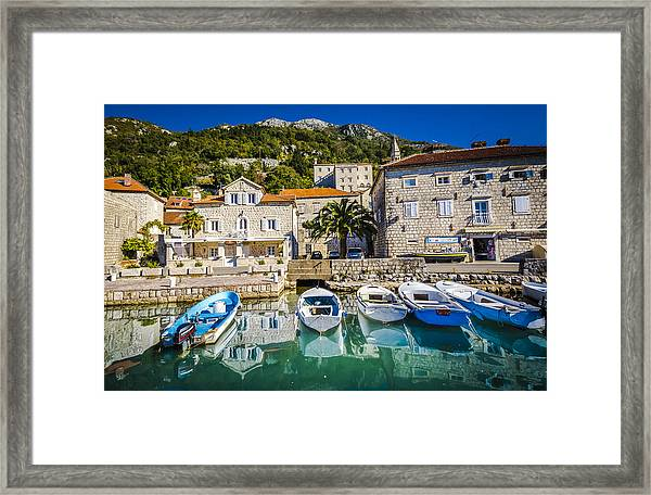 The Waiting Boats Framed Print