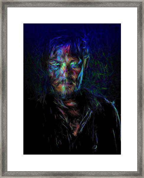 The Walking Dead Daryl Dixon Painted Framed Print