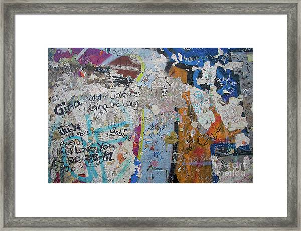 The Wall #10 Framed Print