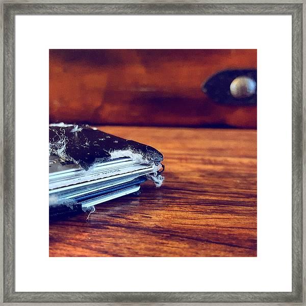 The Wallet II Framed Print by Daniel Donche