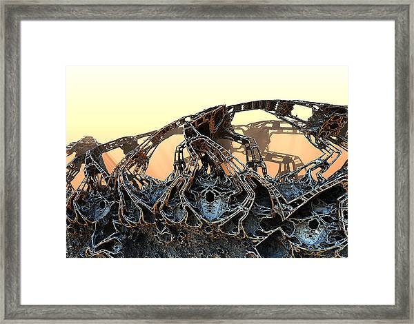 The Walls Came Tumbling Down Framed Print