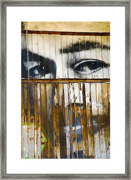 The Walls Have Eyes Framed Print