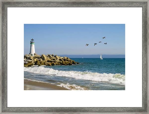 The Walton Lighthouse Framed Print
