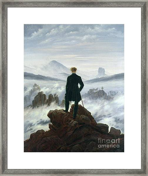 The Wanderer Above The Sea Of Fog Framed Print