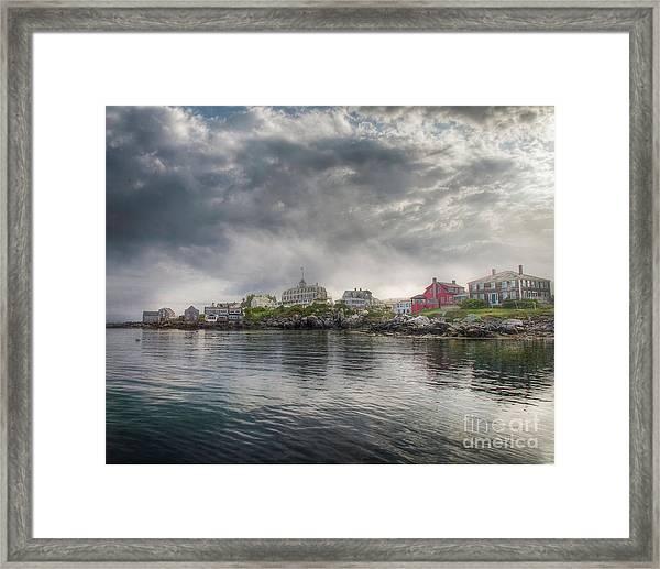 Monhegan Harbor View Framed Print