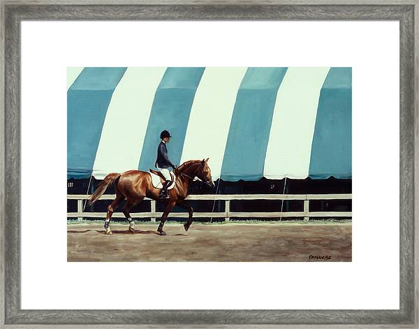 The Warmup Framed Print