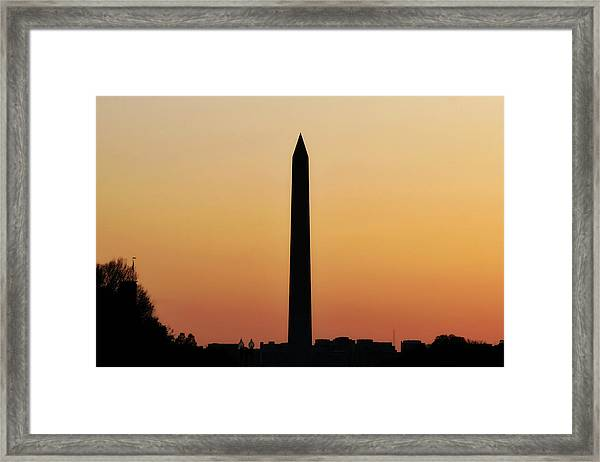 The Washington Monument Framed Print