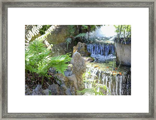 The Water And Rock Spot Framed Print