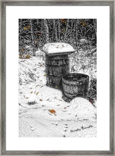 The Water Barrel Framed Print