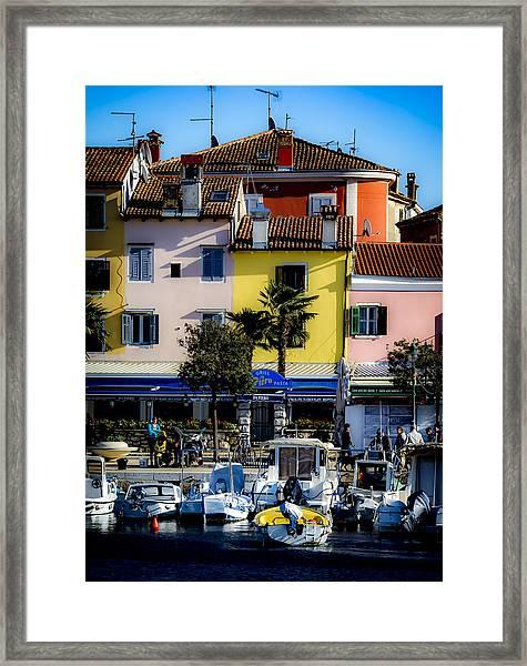 The Watercolors In Split Framed Print