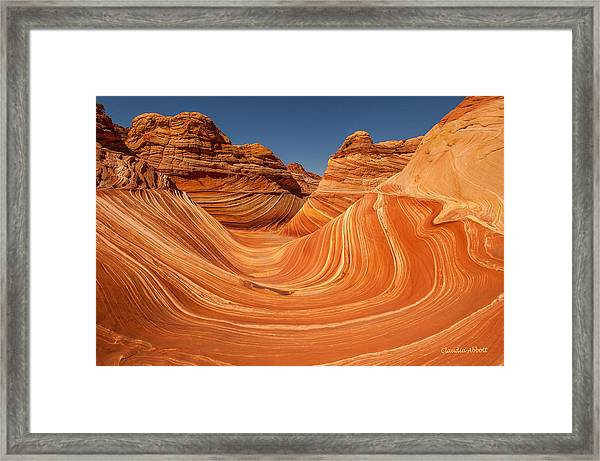 Framed Print featuring the photograph The Wave by Claudia Abbott