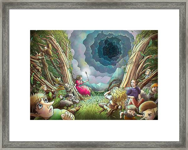 The Wave Of Space And Time Framed Print