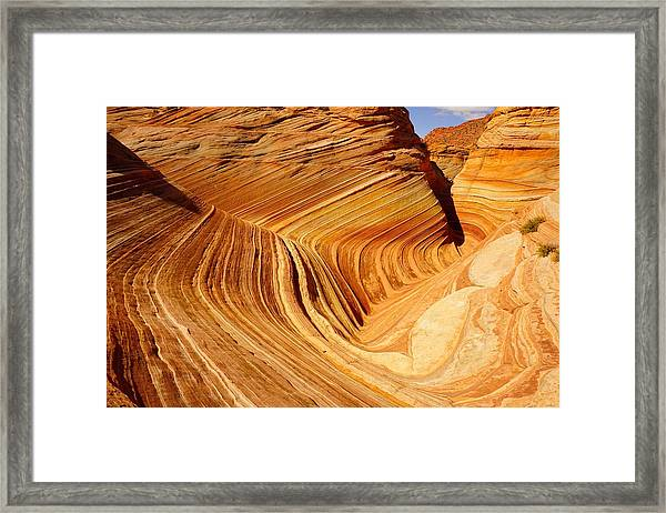 The Side Wave Framed Print