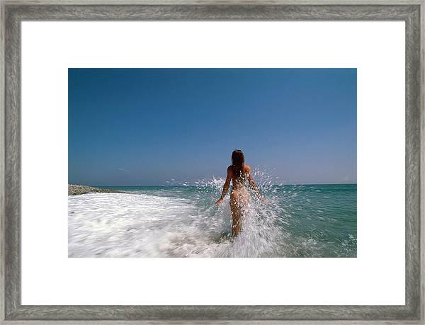 The Waves Framed Print