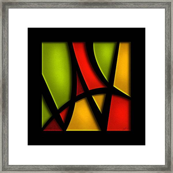 Framed Print featuring the mixed media The Way - Abstract by Shevon Johnson