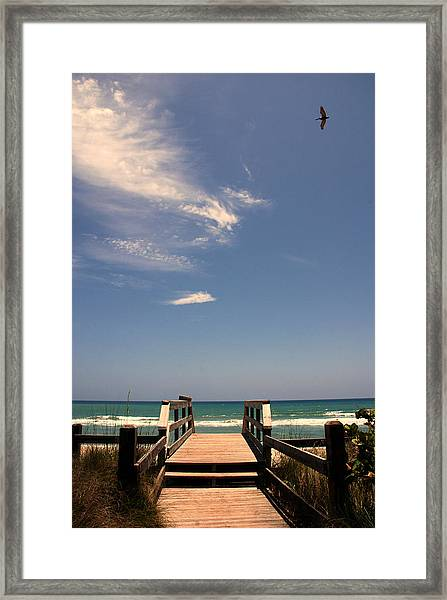 The Way Out To The Beach Framed Print