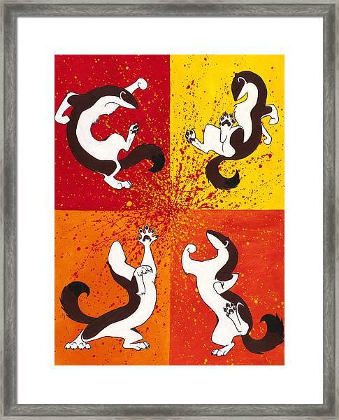 The Weasel Dance Framed Print