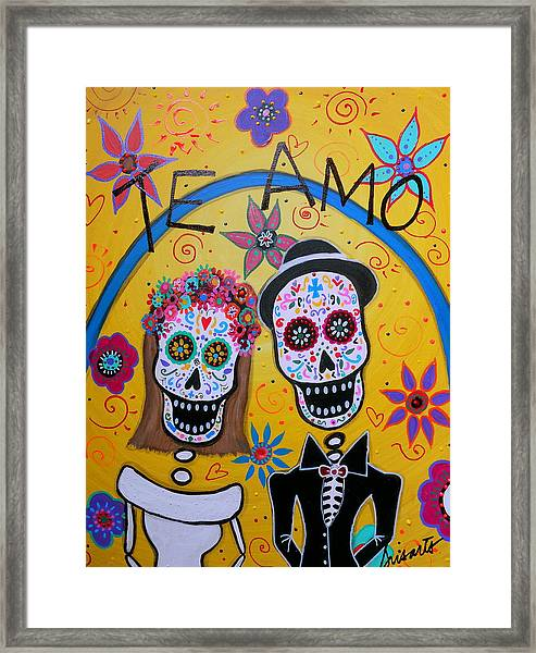 The Wedding Day Of The Dead Framed Print