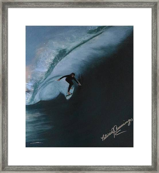 The Wedge - Shoot The Curl Framed Print