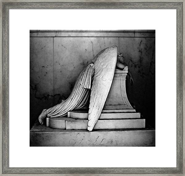 The Weeping Angel Framed Print