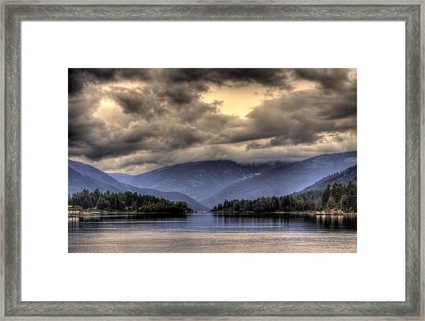 The West Arm Of Kootenai Lake Framed Print