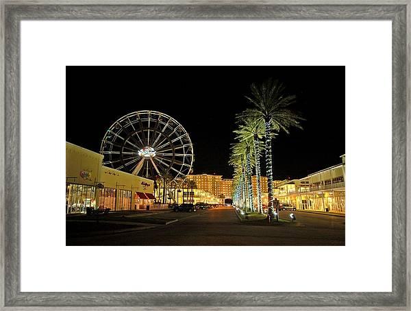 The Wharf At Night  Framed Print