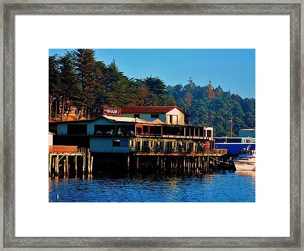 The Wharf Framed Print by Helen Carson