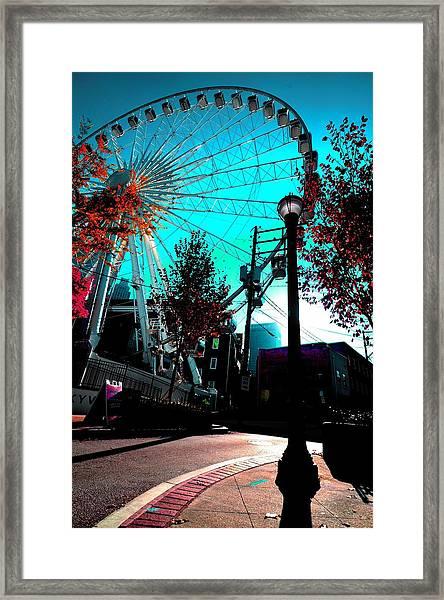 The Wheel Blue Framed Print