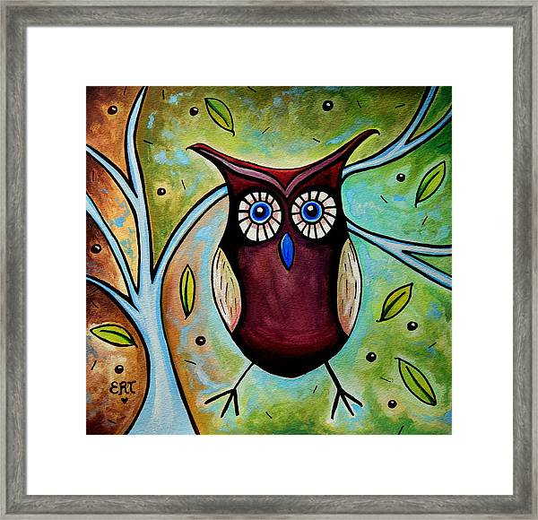 The Whimsical Owl Framed Print