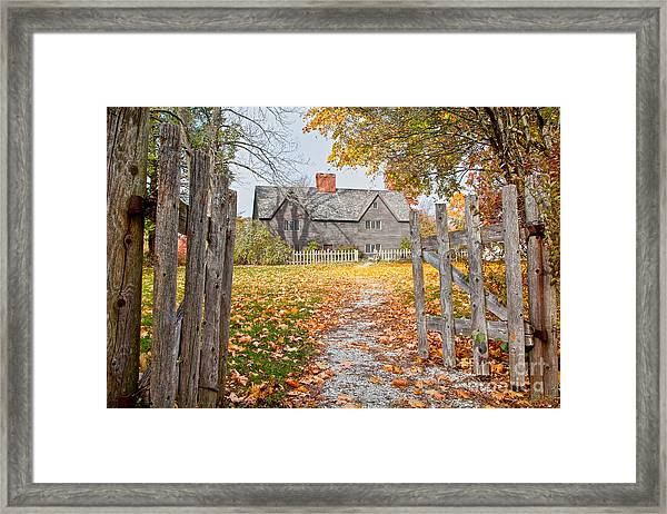 Framed Print featuring the photograph The Whipple House by Susan Cole Kelly