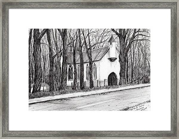 The White Chapel Framed Print
