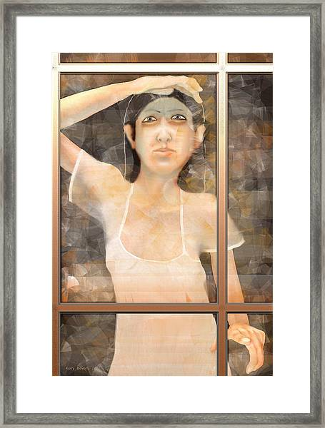 The White Dress Framed Print