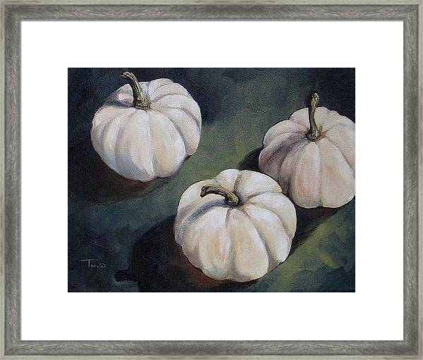 The White Pumpkins Framed Print