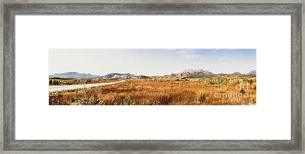 The Wide West Framed Print
