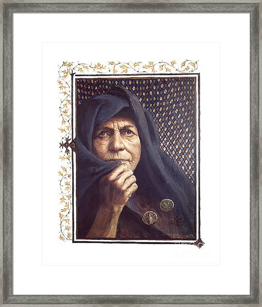 The Widow's Mite - Lgtwm Framed Print