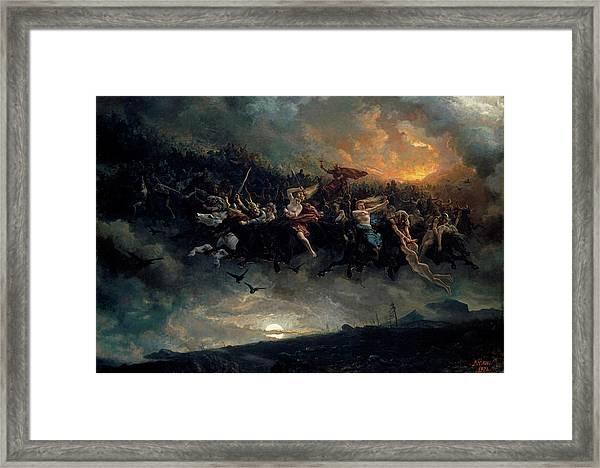 The Wild Hunt Of Odin Framed Print