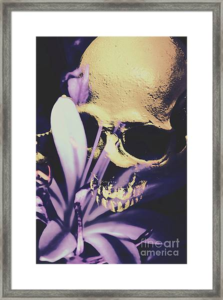 The Wilted Weather Underground Framed Print