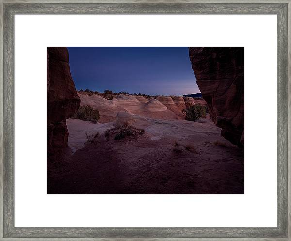 The Window In Desert Framed Print