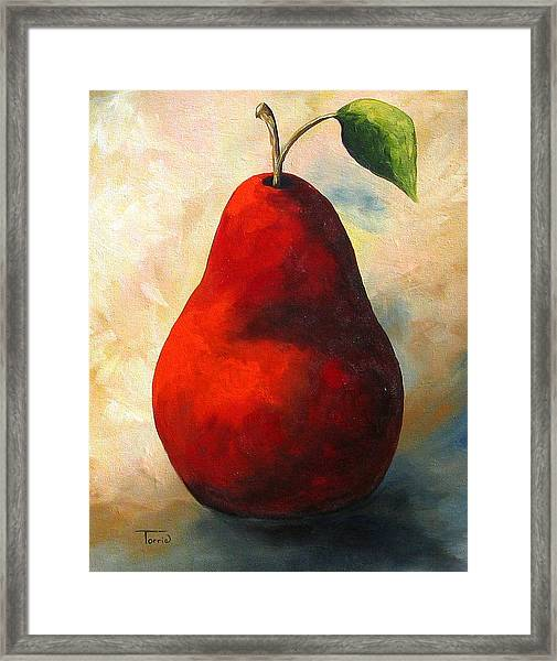 The Wine Red Pear  Framed Print