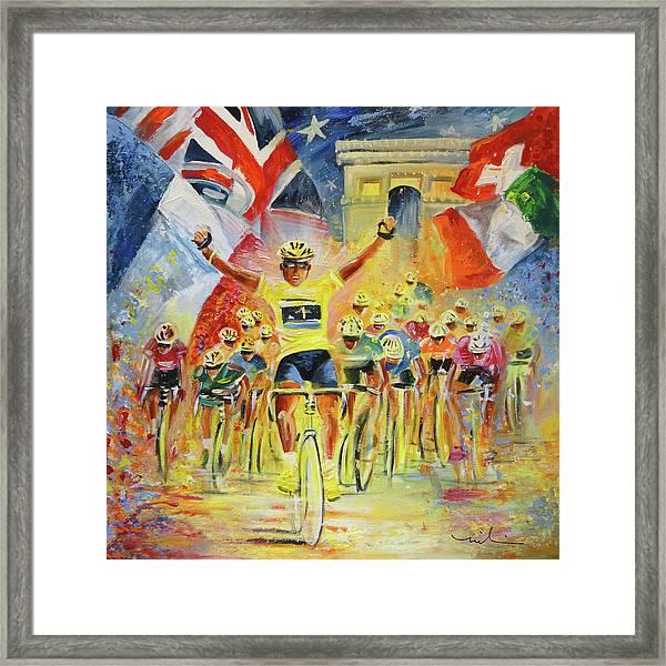The Winner Of The Tour De France Framed Print
