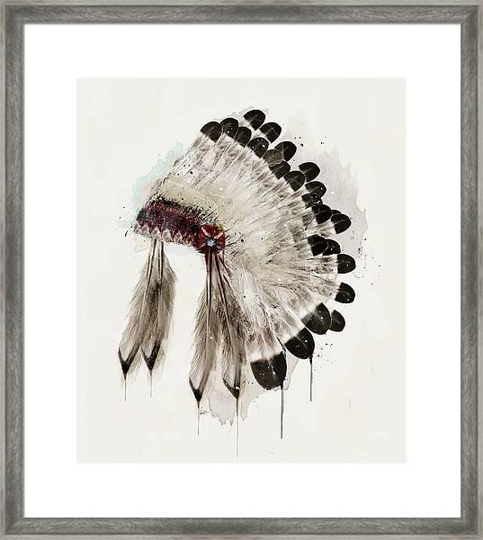 The Winter Headdress Framed Print
