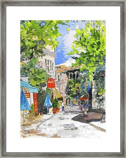The Wisest Men Follow Their Own Direction Framed Print