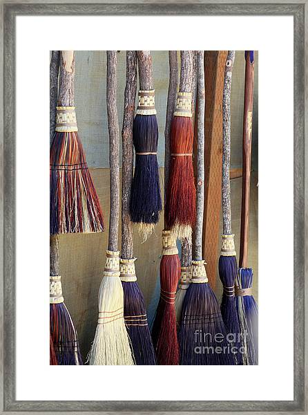 The Witches Brooms Framed Print