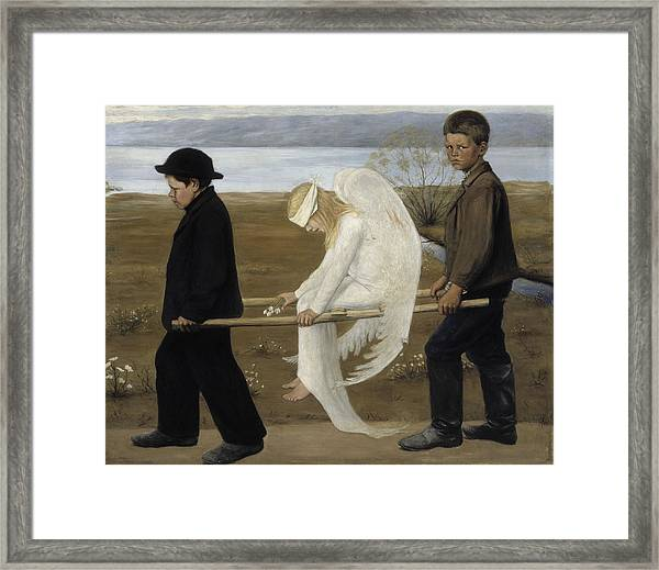 The Wounded Angel Framed Print