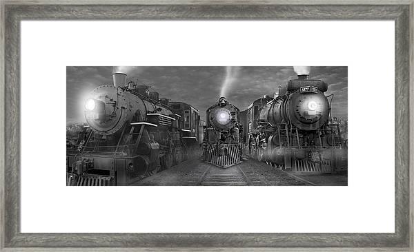 The Yard Panoramic Framed Print