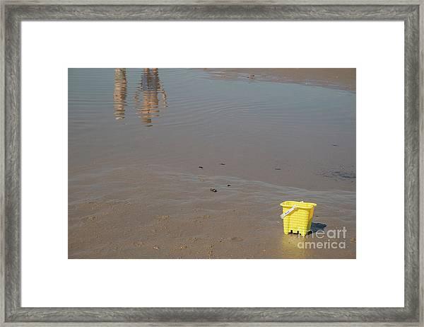 The Yellow Bucket Framed Print